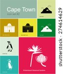Landmarks Of Cape Town. Set Of...