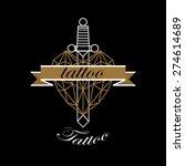vector of modern tattoo studio... | Shutterstock .eps vector #274614689