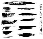 set of hand drawn grunge brush...   Shutterstock .eps vector #274614929