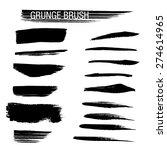 set of hand drawn grunge brush...   Shutterstock .eps vector #274614965