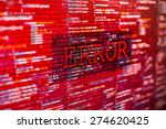 error in program code listing ... | Shutterstock . vector #274620425