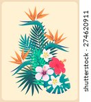 palm leaves and tropical... | Shutterstock .eps vector #274620911