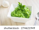 green broccoli puree with... | Shutterstock . vector #274621949