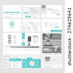 set of flat website template... | Shutterstock .eps vector #274629641