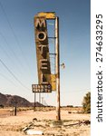 abandoned motel sign in the... | Shutterstock . vector #274633295