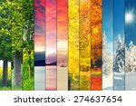 four seasons collage  several... | Shutterstock . vector #274637654