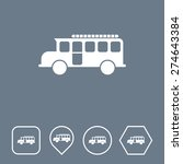 bus icon on flat ui colors with ...