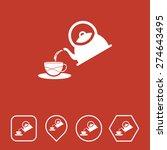 tea pot icon on flat ui colors...