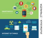 concepts for smart watch and... | Shutterstock .eps vector #274646354