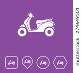scooter icon on flat ui colors...