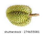 durian on white background ... | Shutterstock . vector #274655081