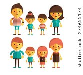 vector set of characters in a... | Shutterstock .eps vector #274655174