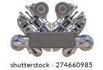 v8 bi turbocharger engine... | Shutterstock . vector #274660985