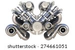 v8 bi turbocharger engine... | Shutterstock . vector #274661051