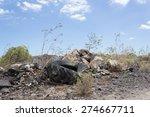 Truck Car Tire In Landscape