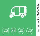 three wheeler rickshaw icon on...