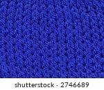 blue knitted wool texture... | Shutterstock . vector #2746689