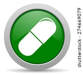 drugs green glossy web icon  | Shutterstock . vector #274669079