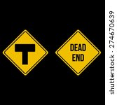 vector restriction dead end... | Shutterstock .eps vector #274670639
