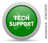 technical support green glossy... | Shutterstock . vector #274672025