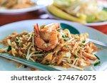 shrimps pad thai  thailand's... | Shutterstock . vector #274676075