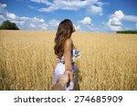 follow me  beautiful sexy young ... | Shutterstock . vector #274685909
