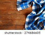 napkin on wooden background | Shutterstock . vector #274686605