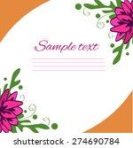 vector illustration   flower... | Shutterstock .eps vector #274690784