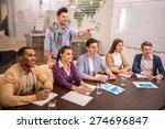 teamwork concept. young... | Shutterstock . vector #274696847
