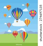 colorful hot air balloons... | Shutterstock .eps vector #274697135