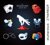 magician icons pack | Shutterstock .eps vector #274698029