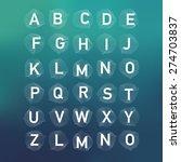 geometric font. creative... | Shutterstock .eps vector #274703837
