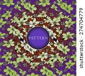 beautiful flower background.... | Shutterstock .eps vector #274704779