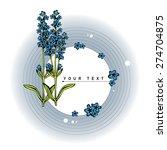 beautiful flower background art ... | Shutterstock .eps vector #274704875