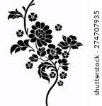 Stock vector flower motif 274707935