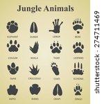 set of jungle animal tracks | Shutterstock .eps vector #274711469