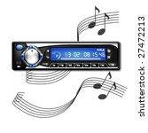 illustration of a car radio on... | Shutterstock . vector #27472213