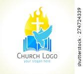 Christian Church Vector Logo....