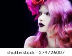 beautiful girl with pink hair   ... | Shutterstock . vector #274726007