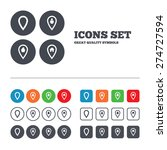 map pointer icons. home  food... | Shutterstock .eps vector #274727594