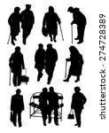 older people silhouettes | Shutterstock .eps vector #274728389