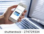 using smart phone app for e... | Shutterstock . vector #274729334