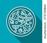 vector pizza icon. food icon.... | Shutterstock .eps vector #274730864