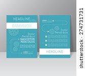 vector brochure template design ... | Shutterstock .eps vector #274731731
