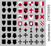 set of vector heraldic elements ... | Shutterstock .eps vector #274732055