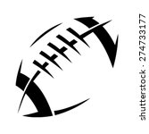 stylized american football logo ... | Shutterstock .eps vector #274733177