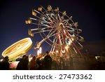 People In Line For Ferris Wheel ...