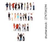 teamwork achievement corporate... | Shutterstock . vector #274734194