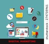 digital marketing  vector...