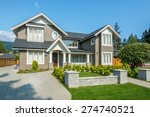 luxury house with beautiful... | Shutterstock . vector #274740521